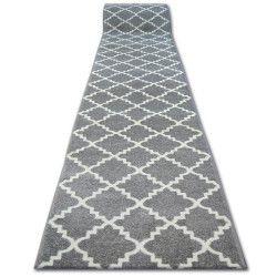 Passatoia SKETCH F343 grigio/bianco marocco trifoglio trellis