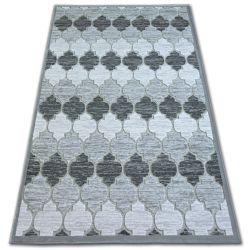 Akril yazz szőnyeg 3766 Szürke Lóhere Marokkói Trellis