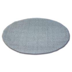 Alfombra círculo SHAGGY MICRO plateado