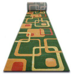 Runner HEAT-SET FRYZ FOCUS - F240 green SQUARES