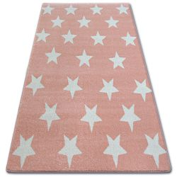 Koberec SKETCH - FA68 ružová / krémová - hviezdy