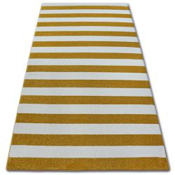 Teppich SKETCH - F758 Gold/Sahne - Streifen