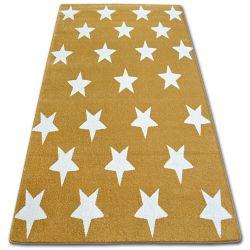 Koberec SKETCH - FA68 zlato/krémový - Hvězdy