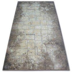 Carpet ARGENT - W2601 Squares Rectangle blue / beige