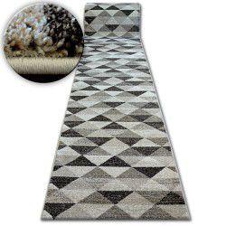 Alfombra de pasillo SHADOW 636 beige claro/Triángulos crema