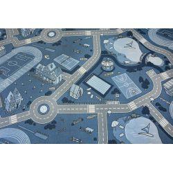 Detský koberec-krytina STREET protišmykový , modrá