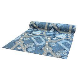 Antirutsch Teppichboden für Kinder STREET blau