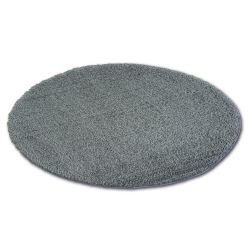 Tapis cercle SHAGGY MICRO anthracite