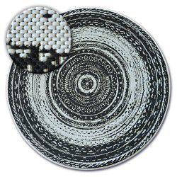 Kulatý koberec FLAT 48756/960 SISAL - vitráže