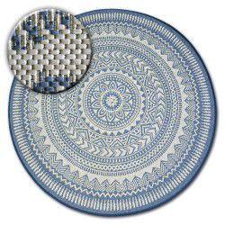 Alfombra de cuerda sisal FLAT círculo 48695/591 Vidriero
