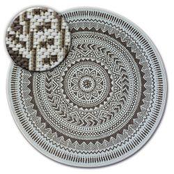 Okrúhly koberec FLAT 48695/768 SISAL - vitráže