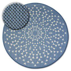 Carpet round FLAT 48715/591 SISAL - stained glass