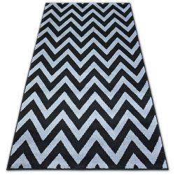 Bcf szőnyeg BASE CLINED 3898 Cikcakk fekete/szürke