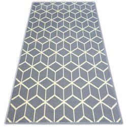 Ковер BCF BASE CUBE 3956 квадраты серый