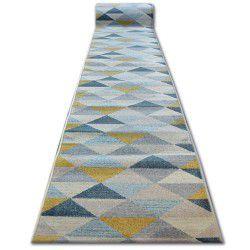 Alfombra de pasillo NORDIC Triángulos gris/crema G4580