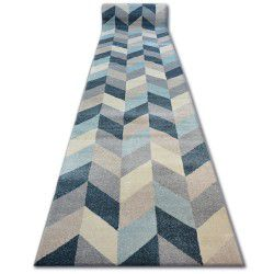 Alfombra de pasillo NORDIC Diseño Espiga azul G4582