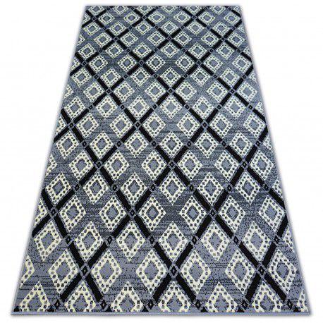 Tappeto BCF BASE DIAMONDS 3869 QUADRI grigio/nero