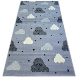 Alfombra BCF FLASH EYES 3977 Nubes Ojos Pestañas gris