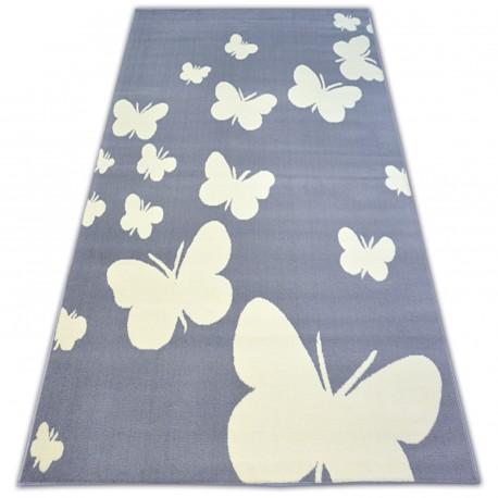 Килим BCF FLASH BUTTERFLY 3976 пеперуда сиво