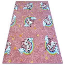 Inbyggd matta för barn UNICORN rosa