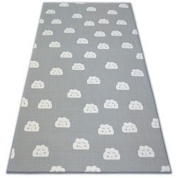 TAPPETO - MOQUETTE antiscivolo per bambini CLOUDS grigio