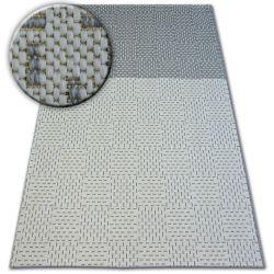 Ковер шнуровой SIZAL FLAT 48722/637 двухцветный кремовый серый