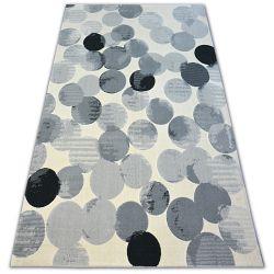 Alfombra SCANDI 18461/752 - Ruedas círculos crema/gris/negro