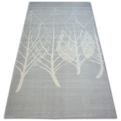 Scandi szőnyeg 18281/652 - LEVELEK szürke krém