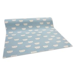 Antirutsch Teppichboden für Kinder CLOUDS blau