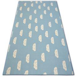 Gyerekeknek szőnyegpadló csúszásgátló FELHŐK kék