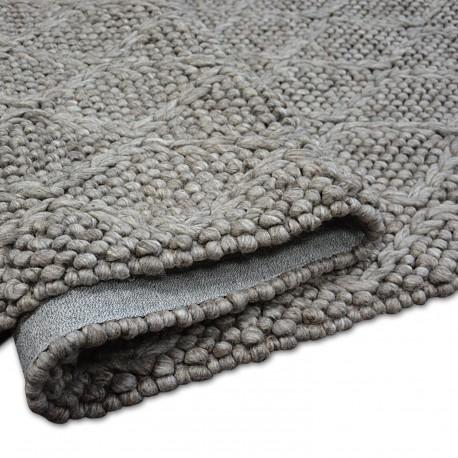 Alfombra de lana HILLS 93520 gris oscuro