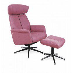 Sessel recliner VIVALDI dunkel pink