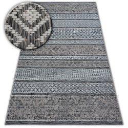 Alfombra de cuerda sisal LOFT 21118 Boho marfil/plateado/gris