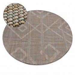 Carpet NATURE circle G2929 beige SIZAL BOHO