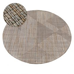 Carpet NATURE circle SL110 beige SIZAL BOHO