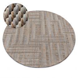 Carpet NATURE circle SL150 beige SIZAL BOHO