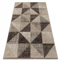 Tappeto FEEL 5672/15055 TRIANGOLI beige / marrone / crema