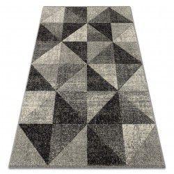 Covor Feel 5672/16811 Triunghiuri gri si antracit si crem