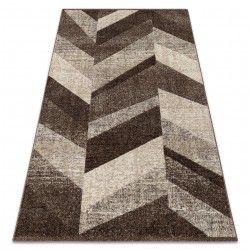 Alfombra FEEL 5673/15044 Diseño Espiga marrón oscuro//gris