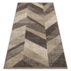Alfombra FEEL 5673/15055 Diseño Espiga beige/marrón/crema