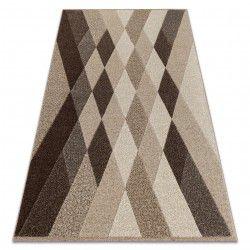 Matta FEEL 5674/15055 DIAMONDS beige / brun / grädde