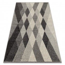 Carpet FEEL 5674/16811 DIAMONDS grey / anthracite / cream