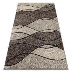 Matta FEEL 5675/15011 WAVES brun / beige / grädde