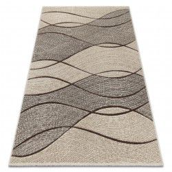 Alfombra FEEL 5675/15033 Olas marrón/beige/gris