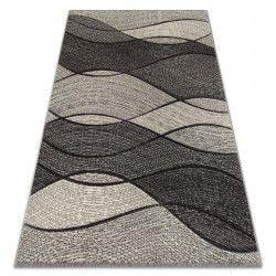 Matta FEEL 5675/16811 WAVES grå / antracit / grädde