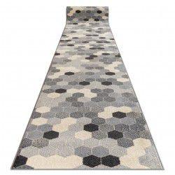 Alfombra de pasillo HEOS 78537 Hexágono gris/crema