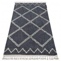 Teppich BERBER ASILA B5970 grau / weiß Franse berber marokkanisch shaggy zottig