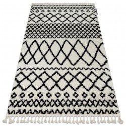 Dywan BERBER SAFI N9040 biały / czarny Frędzle berberyjski marokański shaggy