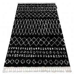 Szőnyeg BERBER ETHNIC G3802 fekete / fehér Rojt shaggy bozontos