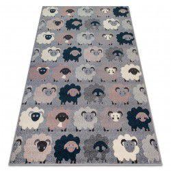 Teppich HEOS 78468 grau / blau SCHAFE